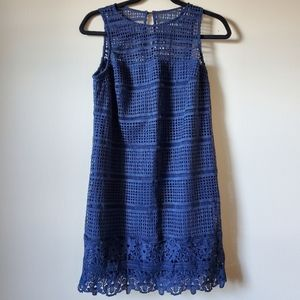 NWT Abercrombie and Fitch blue lace dress size S